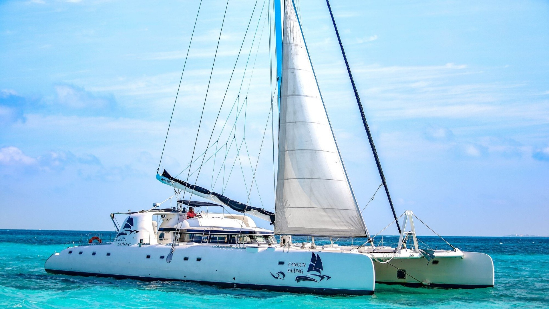 6 - LoRes - Amazing - Isla Mujeres Catamaran Tour - Cancun Sailing