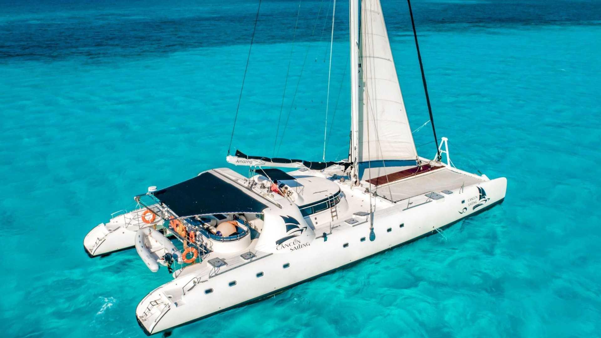 7 - LoRes - Amazing - Isla Mujeres Catamaran Tour - Cancun Sailing