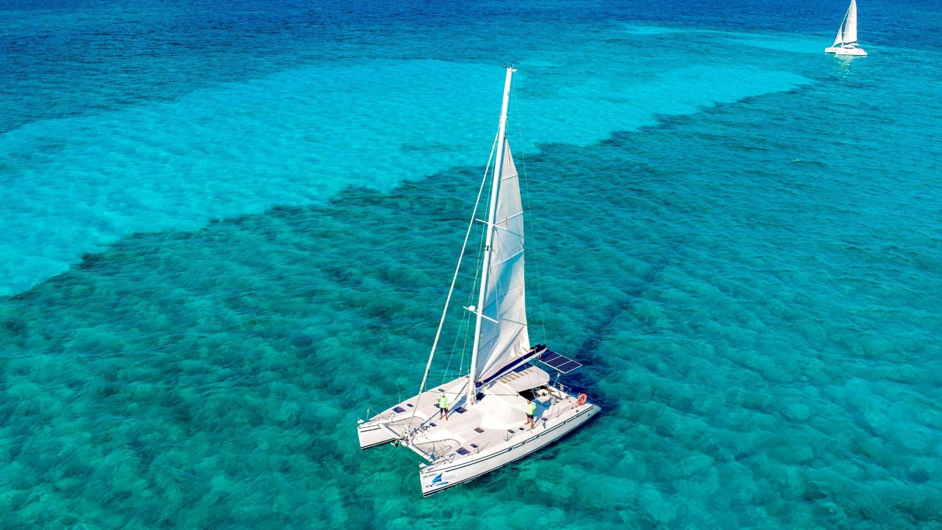 2 - LoRes - Arjuna - Isla Mujeres Catamaran Tour - Cancun Sailing
