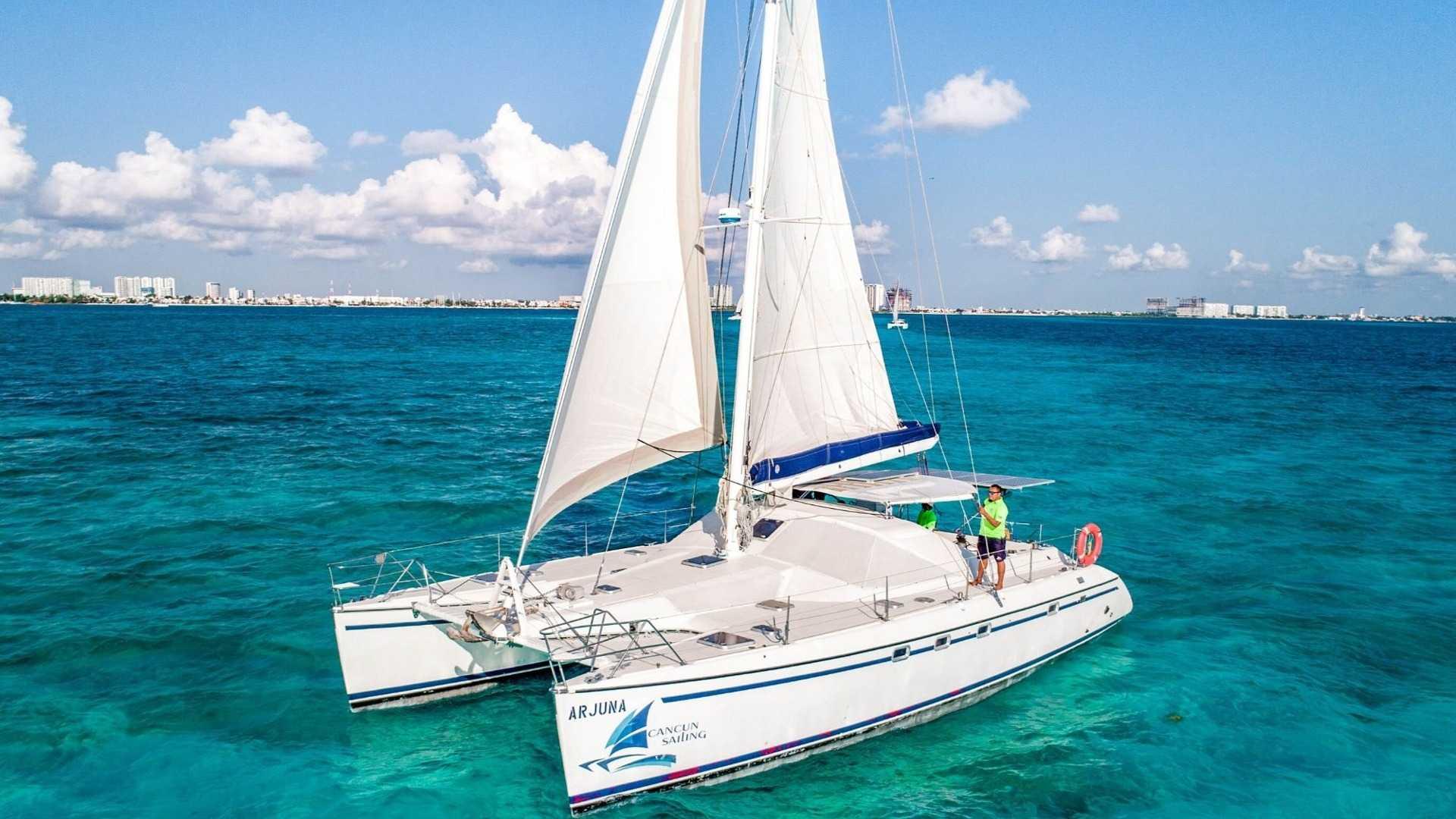 3 - LoRes - Arjuna - Isla Mujeres Catamaran Tour - Cancun Sailing