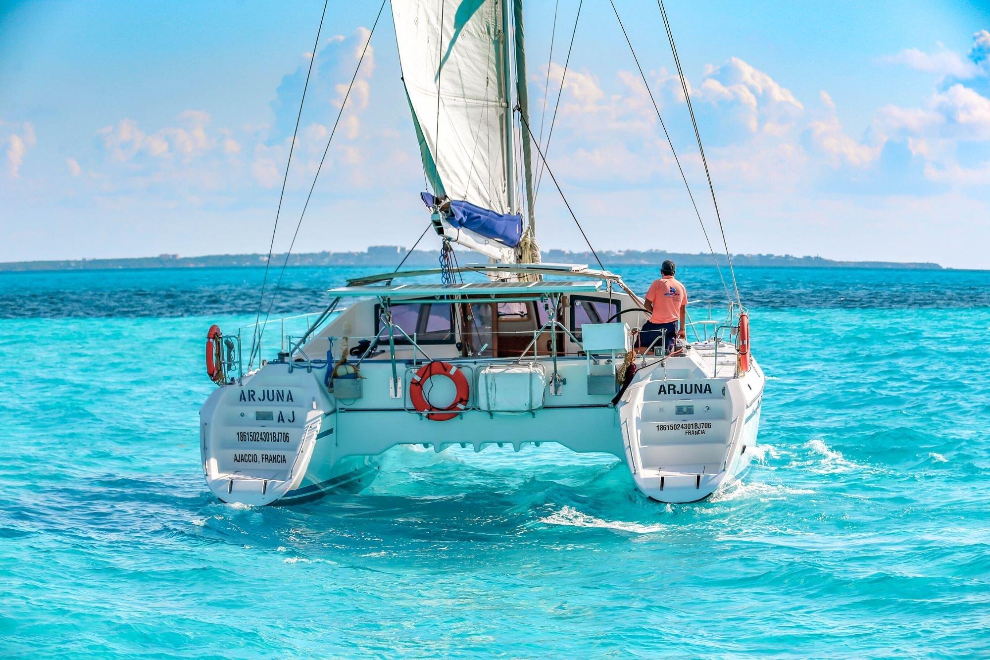 4 - HiRes - Arjuna - Isla Mujeres Catamaran Tour - Cancun Sailing