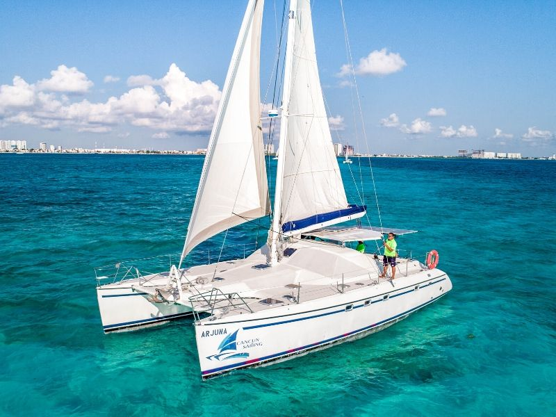 Arjuna 800x600 - Isla Mujeres Catamaran Tour - Cancun Sailing