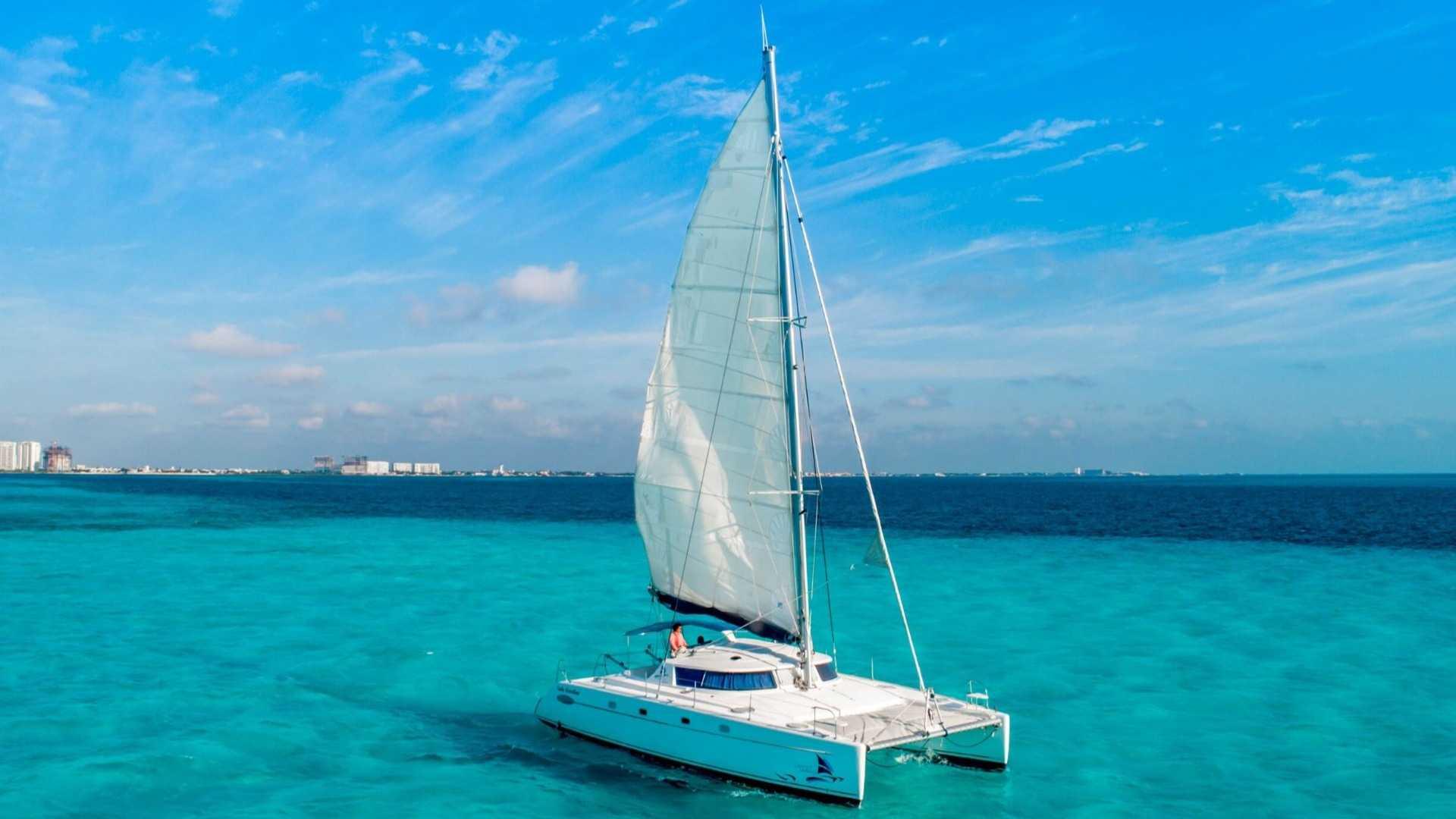 2 - LoRes - Lady Caroline - Isla Mujeres Catamaran Tour - Cancun Sailing
