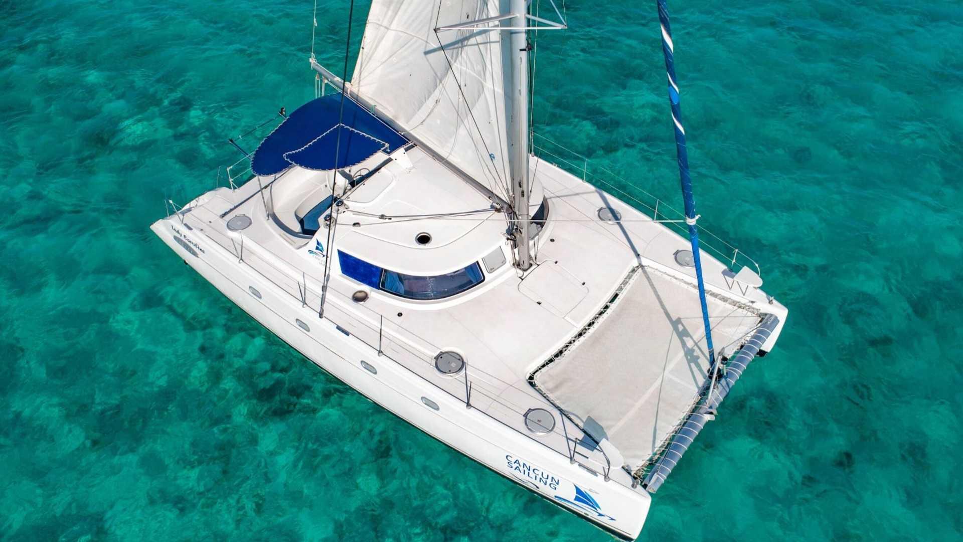 3 - LoRes - Lady Caroline - Isla Mujeres Catamaran Tour - Cancun Sailing