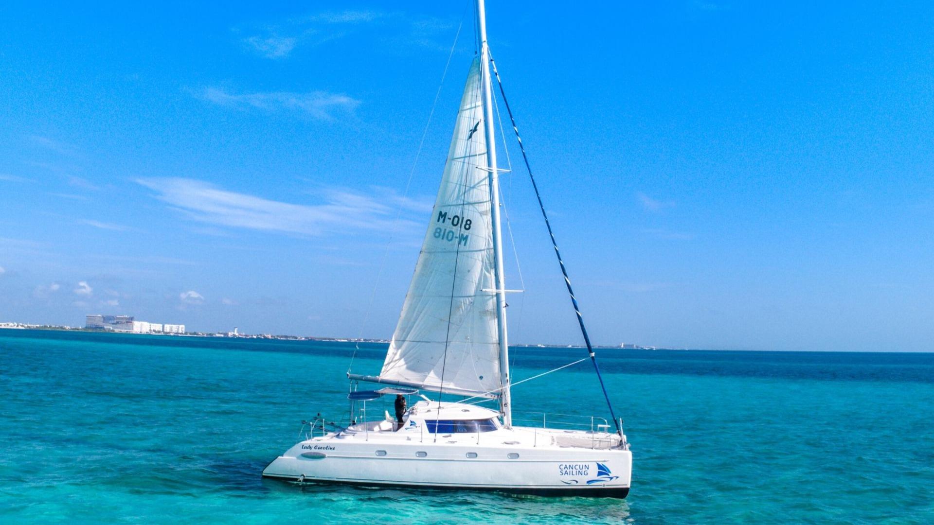 4 - LoRes - Lady Caroline - Isla Mujeres Catamaran Tour - Cancun Sailing