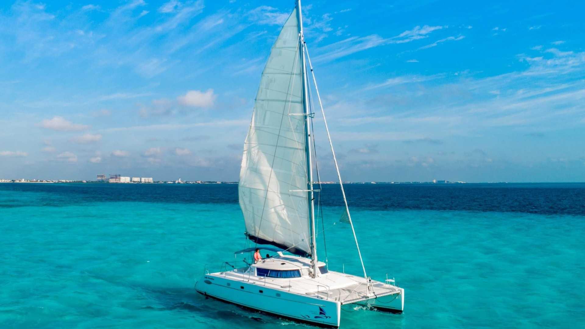 7 - LoRes - Lady Caroline - Isla Mujeres Catamaran Tour - Cancun Sailing
