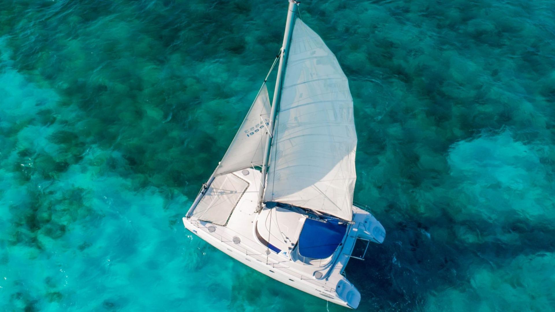 LoRes - Lady Caroline - Isla Mujeres Catamaran Tour - Cancun Sailing