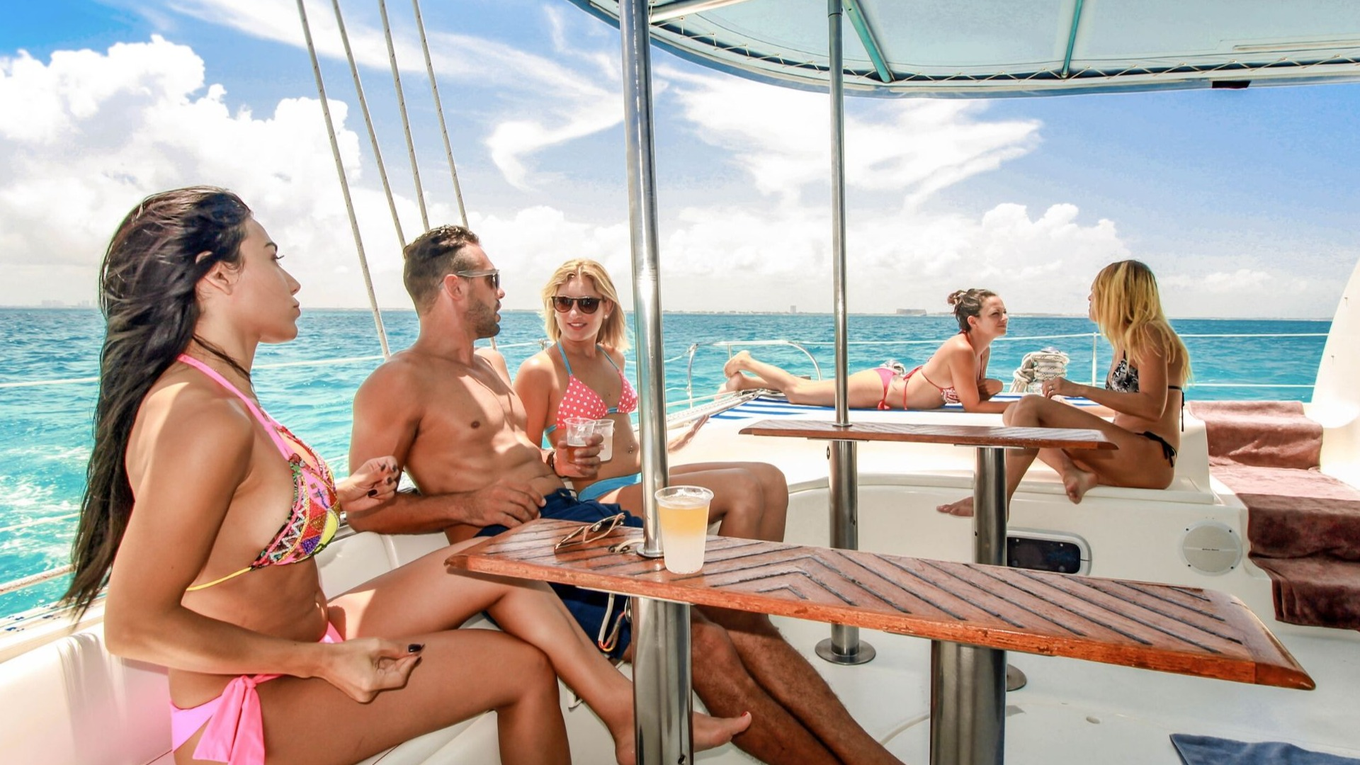 4 - LowRes - Luv Cat - Isla Mujeres Catamaran Tour - Cancun Sailing