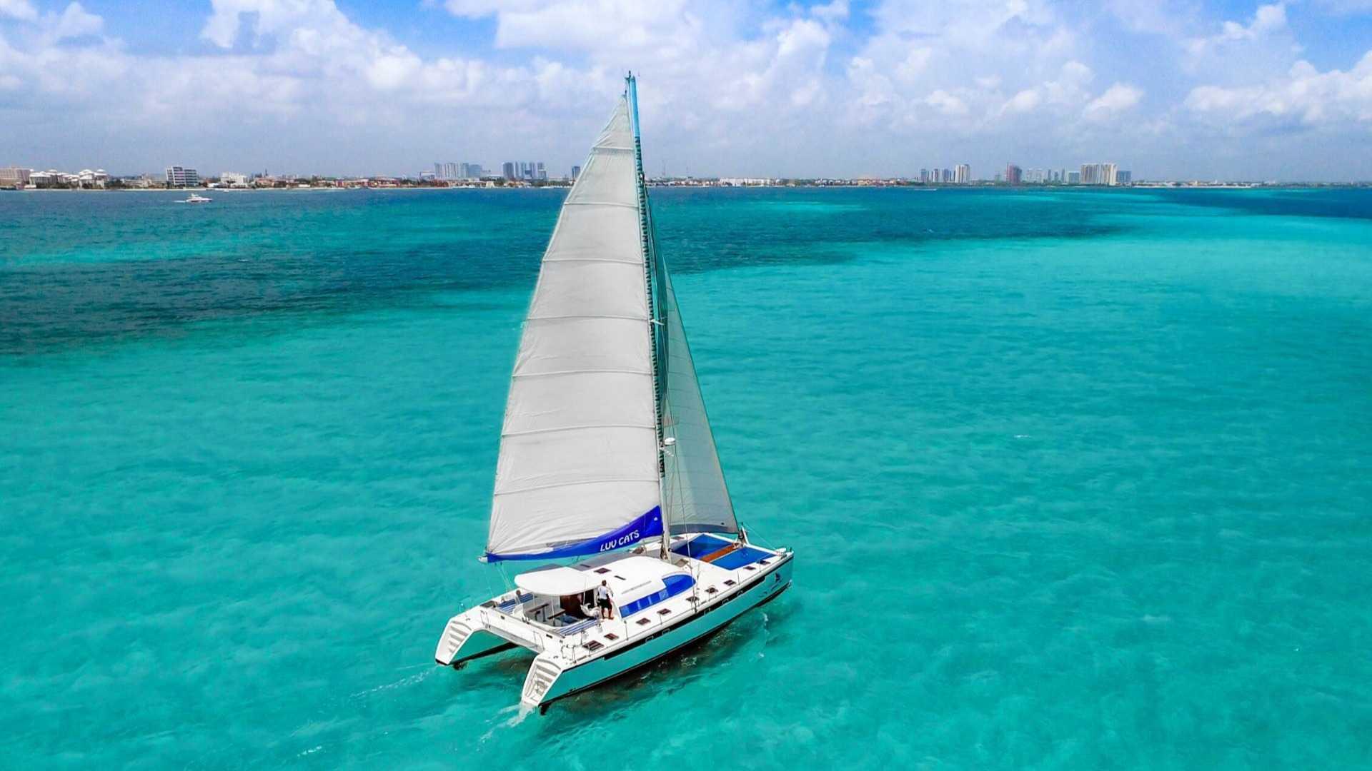 6 - LowRes - Luv Cat - Isla Mujeres Catamaran Tour - Cancun Sailing