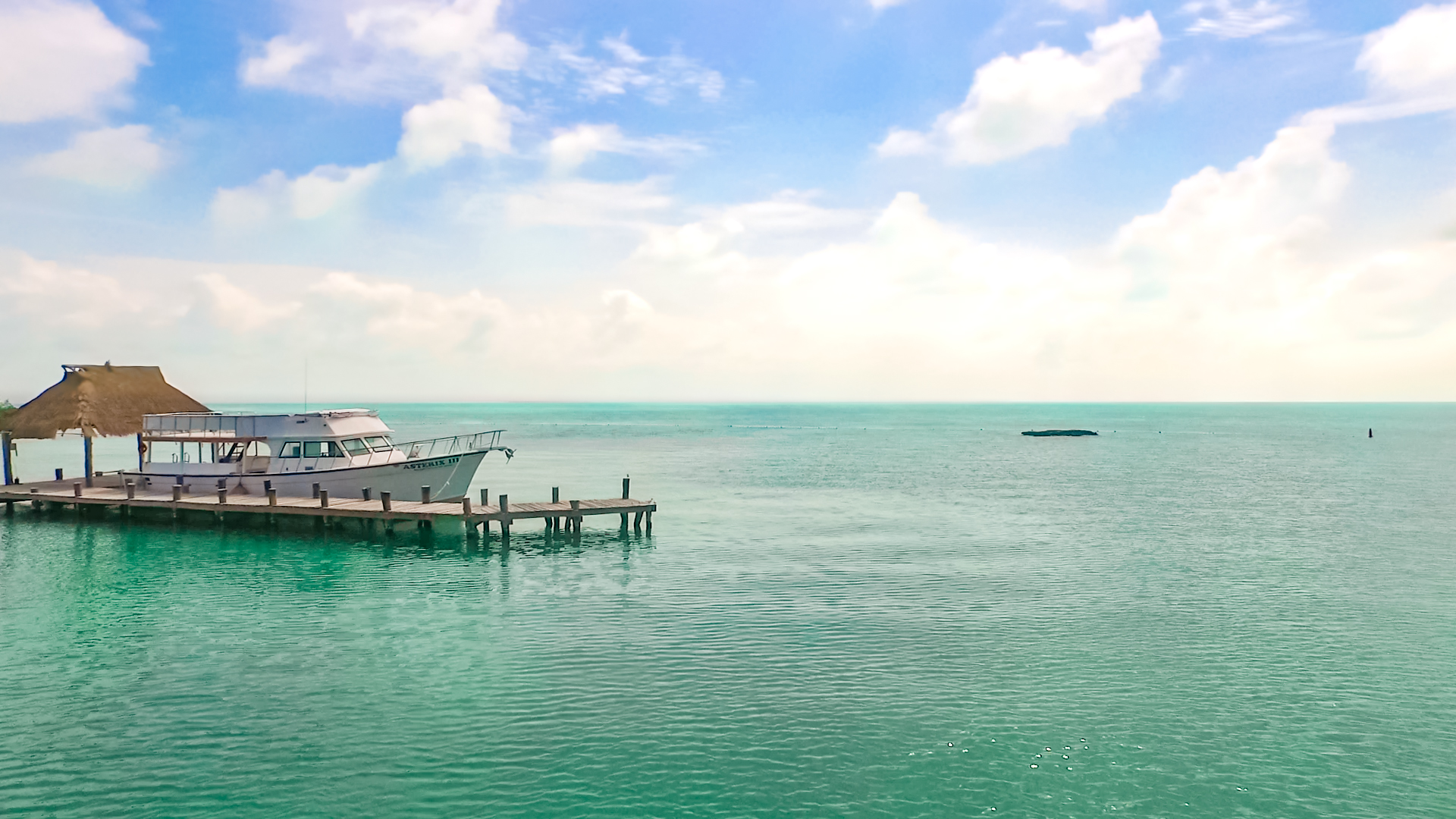 04 - LoRes - Isla Contoy Tour - Dock boat