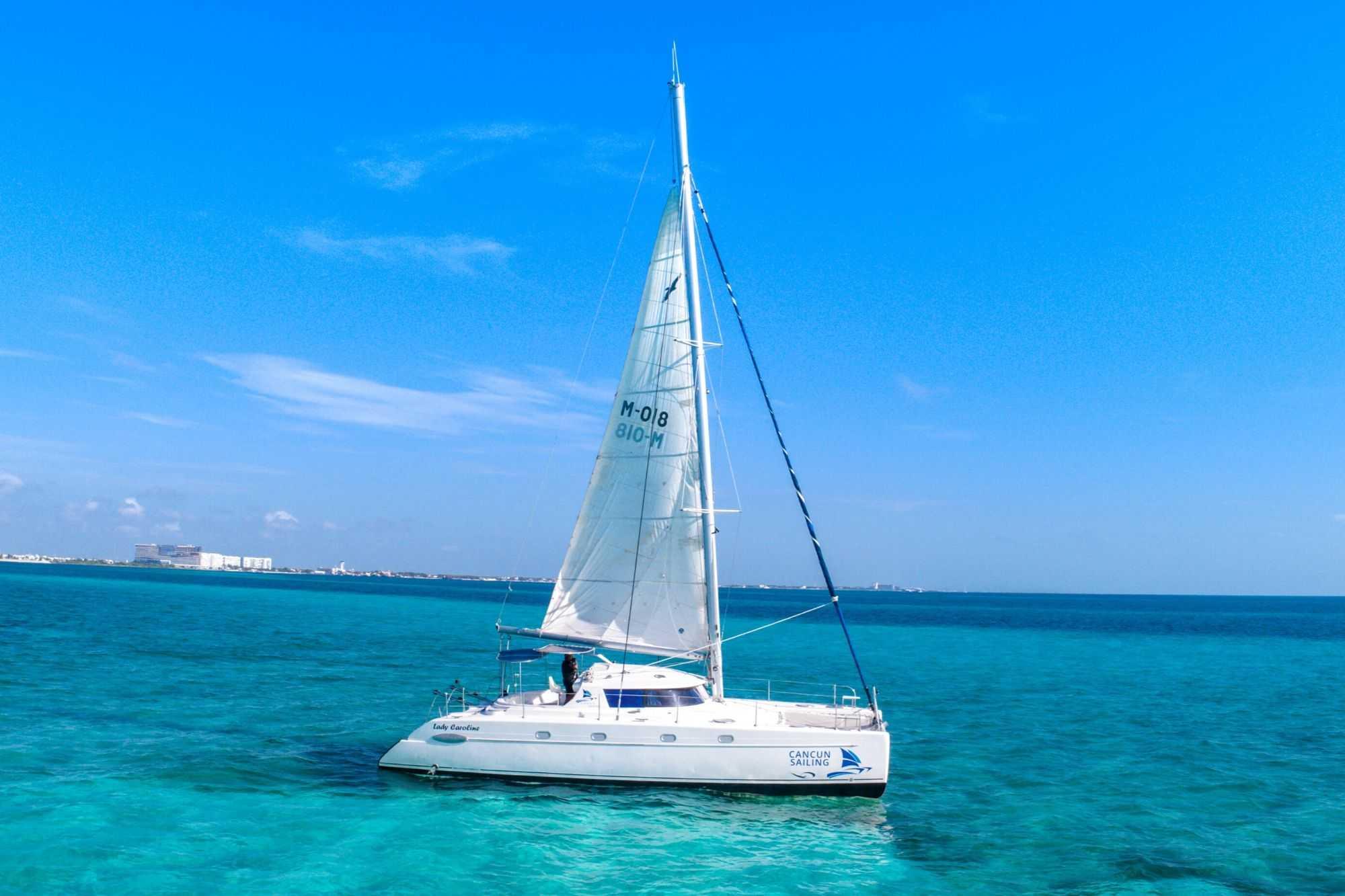 Lady Caroline - Isla Mujeres Catamaran Tour - Cancun Sailing - 4