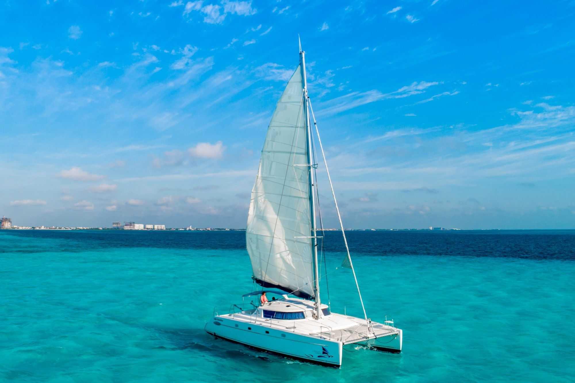 Lady Caroline - Isla Mujeres Catamaran Tour - Cancun Sailing - 7