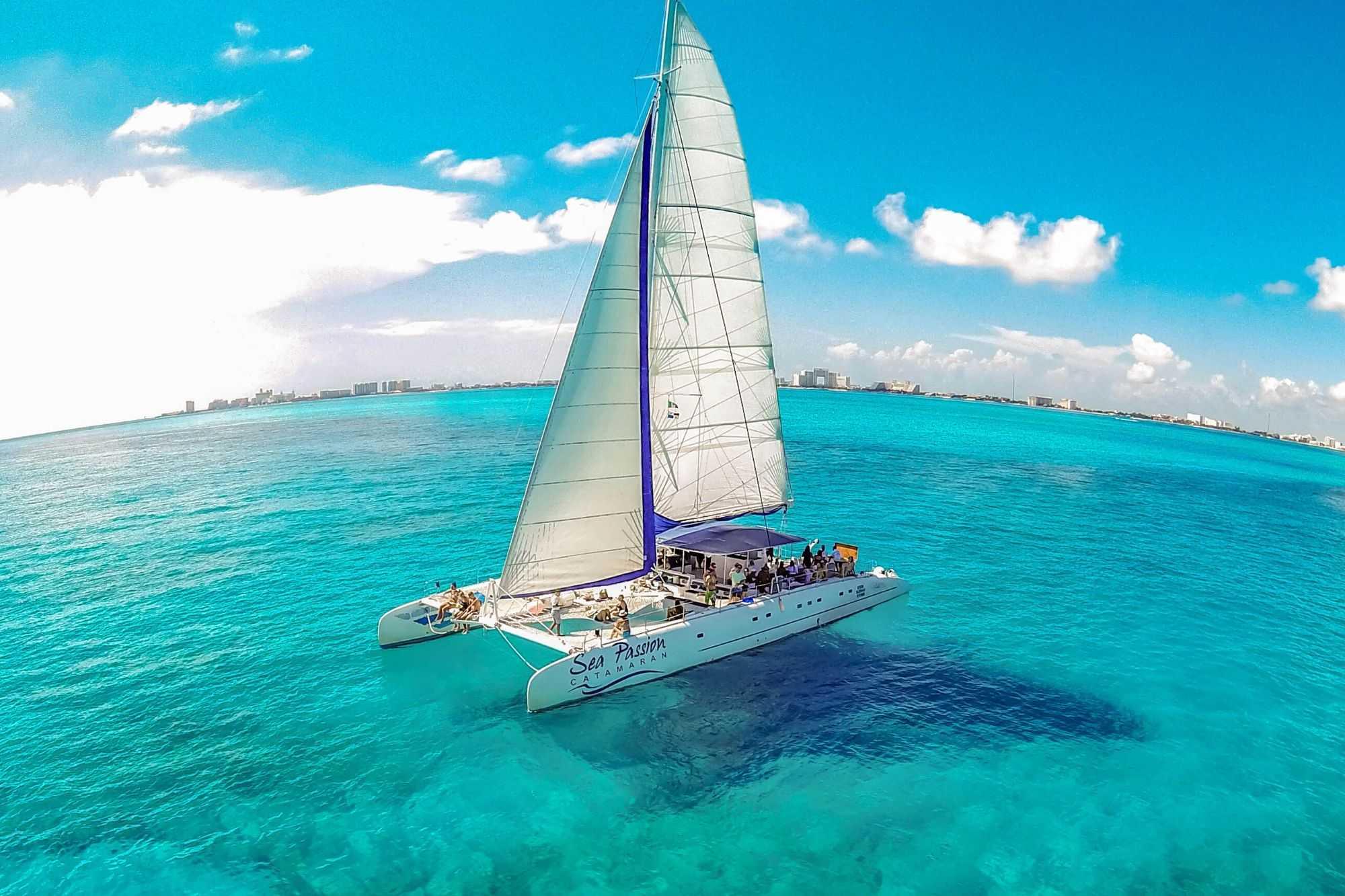 5 Private Isla Mujeres tour in catamaran - Sea Passion I II - Cancun Sailing