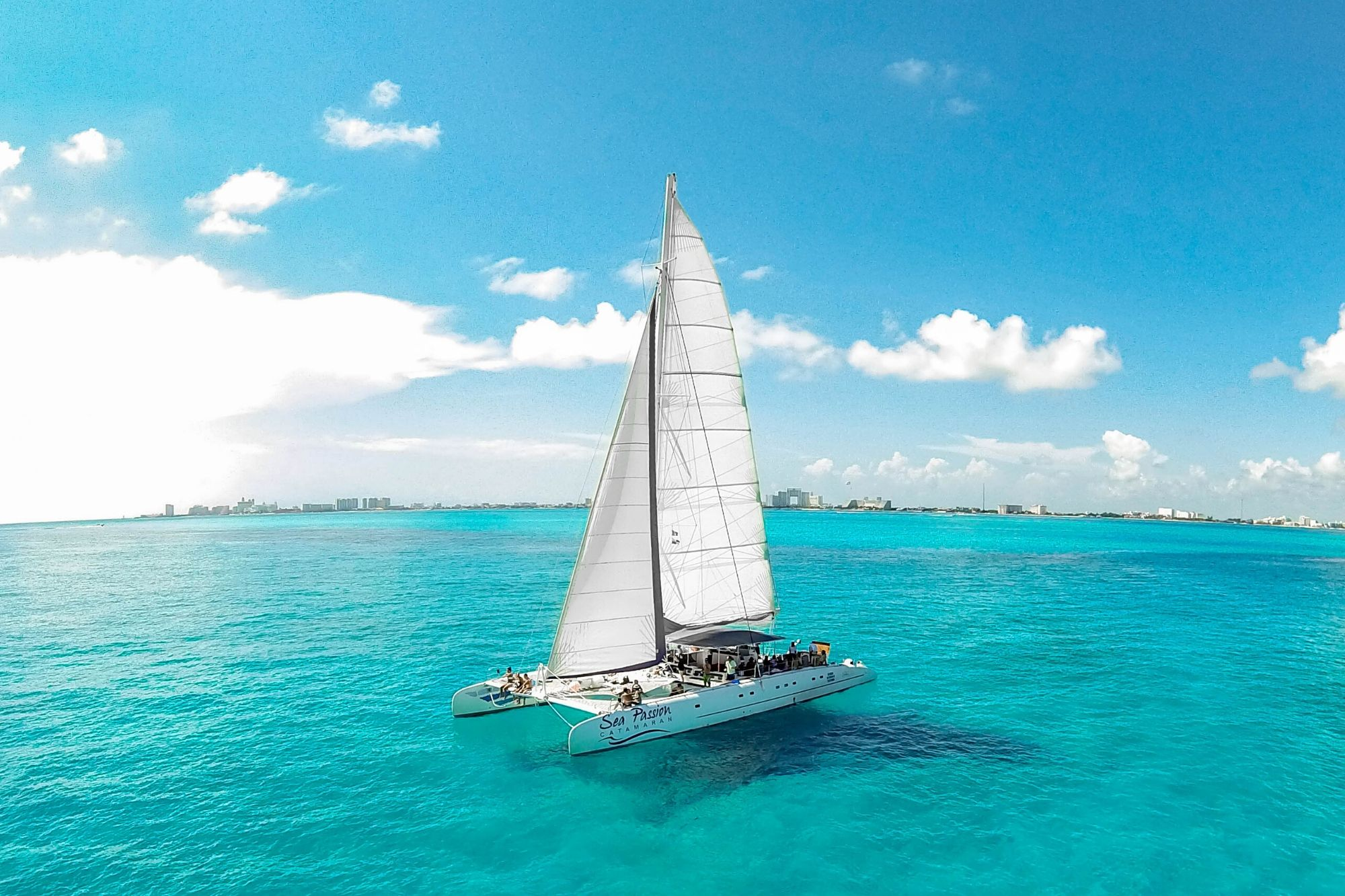 6 Private Isla Mujeres tour in catamaran - Sea Passion I II - Cancun Sailing