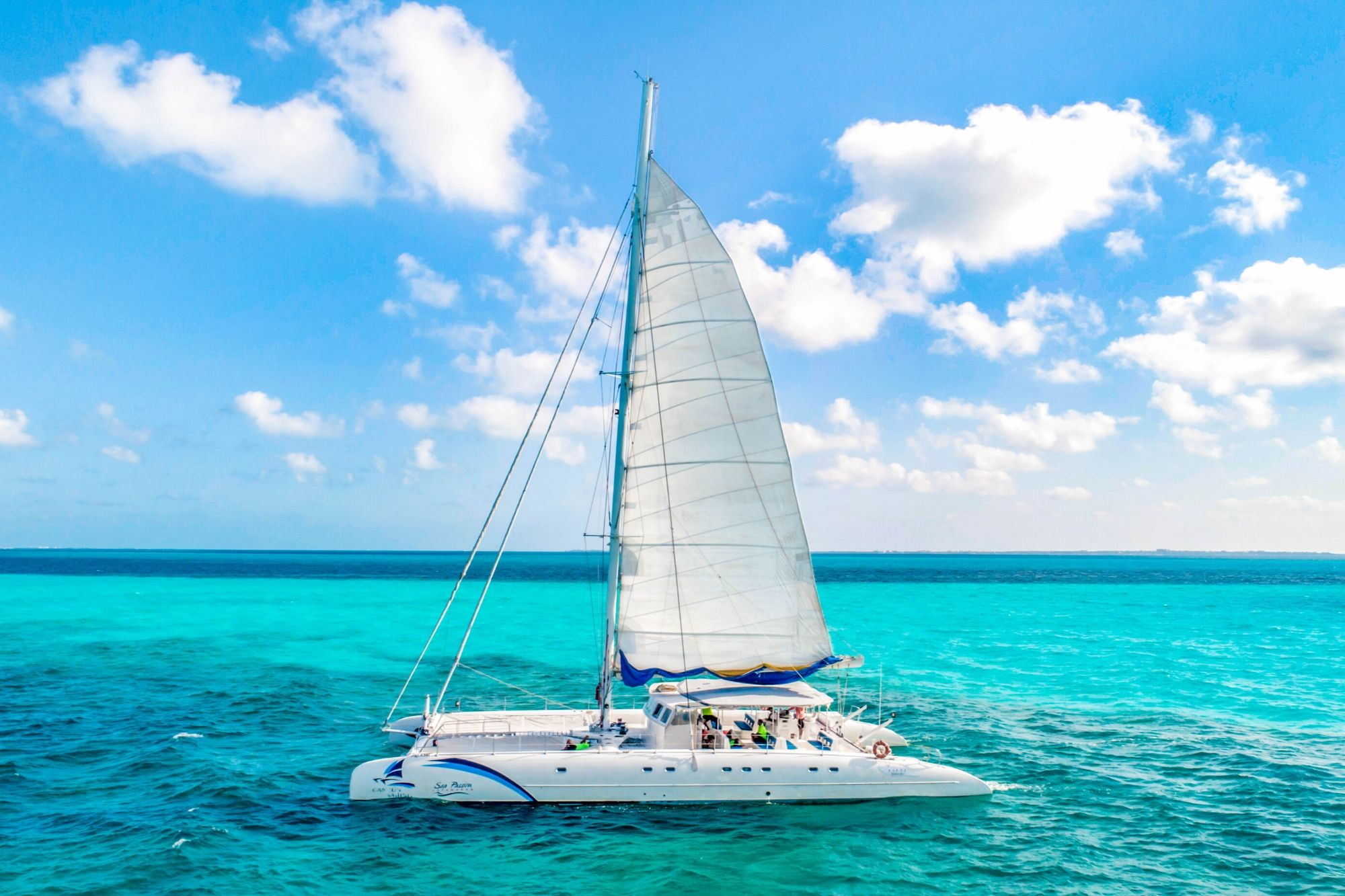 7 Sea Passion III - Isla Mujeres Catamaran Tour - Cancun Sailing