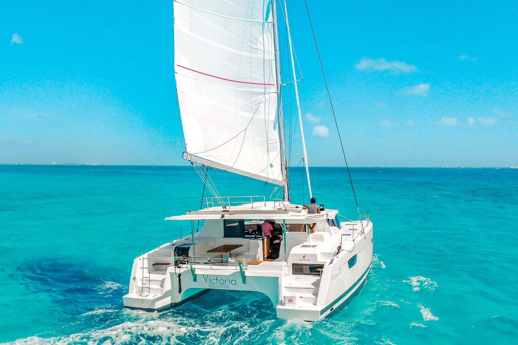 2 - HiRes - Private Isla Mujeres tour in catamaran - Victoria - Cancun Sailing