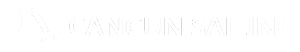 Logo Cancun Sailing - Isla Mujeres Tour - Blanco